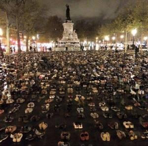 paris shoe protest