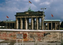 Brandenburg Gate behind the Wall