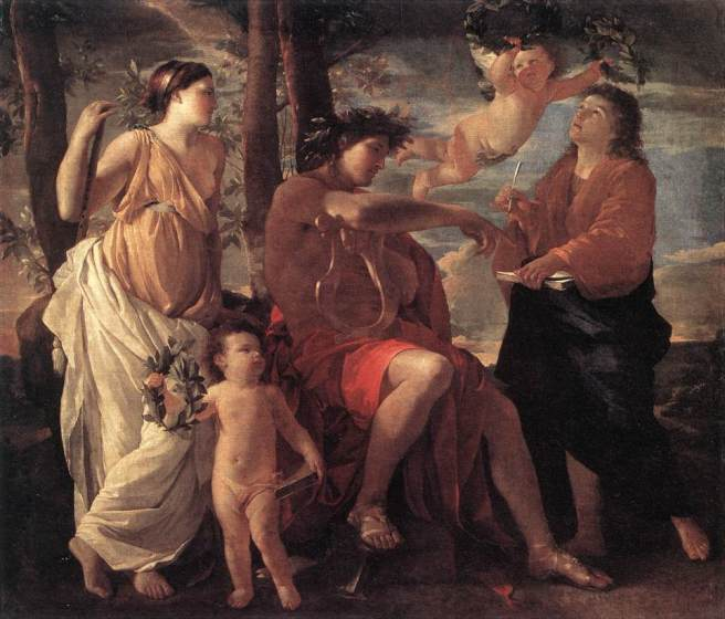 Poussin - Inspiration of the Poet