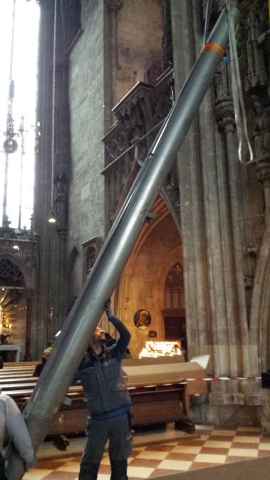 Organ pipe repair in St. Stephan's